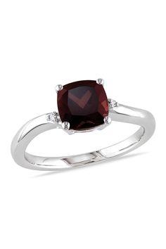 Sterling Silver Garnet & Diamond Ring on @HauteLook