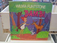 Wilma Flintstone Tells Story of Bambi LP 1977