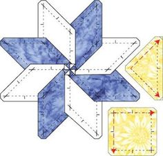 english paper piecing an eight pointed star - Google Search