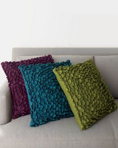 I love these colors together! We already have the blue and purple in our bedroom, never thought about the green