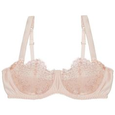 Fleur of England Allure Balcony Bra ($187) ❤ liked on Polyvore featuring intimates, bras, lingerie, powder pink, strap bra, lingerie bras, strappy bra, pink lingerie and balcony bra
