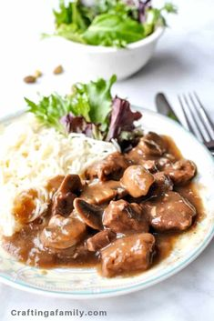 The Best Delicious Beef Tips with Mushroom Gravy made fast right at home. Perfect over mashed potatoes or noodles. Easy Fall Dinner. Your family will love this easy healthy comport food for a hearty fall meal. Fall Instant Pot Dinner Best Easy Dinner Recipes, Beef Recipes For Dinner, Family Recipes, Easy Recipes, Quick Weeknight Meals, Easy Healthy Dinners, Easy Dinners, Rice Noodles, Zucchini Noodles