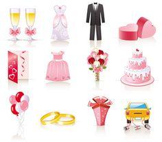 bodas vectores gratis
