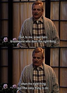Boy Meets World. Mr. Feeny always knew the right thing to say. Anyone out there watching Girl Meets World?