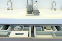 """DAY"" unit design Joost Tromp Baden Baden Interior Amsterdam. Wash basin blend by Marike Andeweg Not Only White"