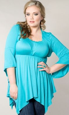 Feeling a little Stevie Nicks? Try our Enchanted Top in Aqua! $49