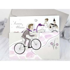 Beckah Bicycle Funny Wedding Invitation