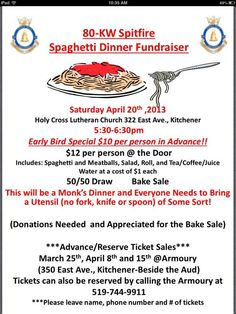 Air Cadet Spaghetti Fundraising Dinner