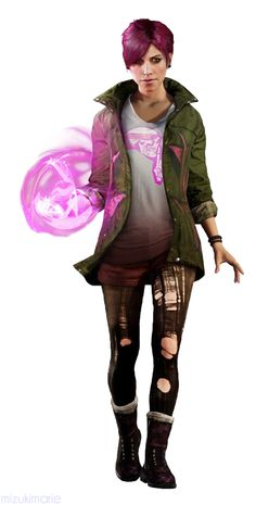 Fetch~ infamous: First Light. Wanna try to re-create this look for a costume