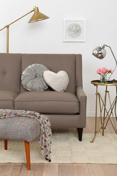 Georgia Loveseat from Urban Outfitters - Comes in four colors! #urbanoutfitters
