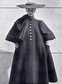 Balenciaga 1951 Winter Coat Hat.