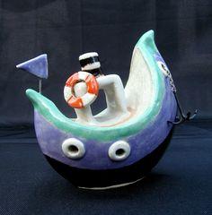 ceramic boat Fischerboot