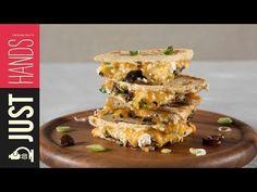 (3) Greek Quesadillas | Akis Petretzikis - YouTube Quesadillas, Waffles, French Toast, Greek, Make It Yourself, Breakfast, Lab, Youtube, Food