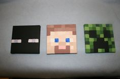 "Made to order Minecraft inspired paintings. Acrylic paint on 5""x5"" canvases"