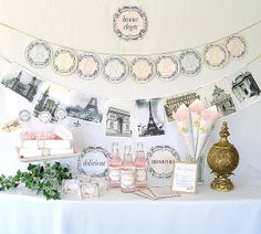French banner for bridal shower