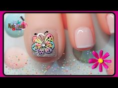 Nail Spa, Manicure And Pedicure, Pedicure Designs, Nail Designs, Nail Art Videos, Toe Nails, Lily, Youtube, Inspiration