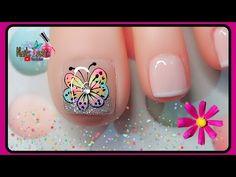 Nail Spa, Manicure And Pedicure, Pedicure Designs, Nail Designs, Nail Art Videos, Feet Nails, Hair Beauty, Nail Polish, Lily