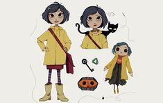 2D Coraline Character Illustration - Illustration Agent