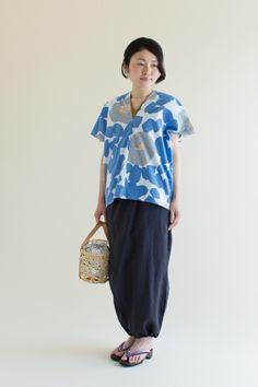 手柄寛衣下(たかみかんいした) - 裾がゴムで絞られたシルエットがかわいいパンツ