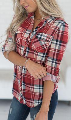 Cutest plaid top EVER!!! Pretty much a fall wardrobe staple. (aff)