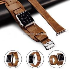 Find More Watchbands Information about Double Tour and Cuff Genuine Leather Watchband Strap for Apple Watch Leather Band iWatch Link Bracelet with Classic Metal Buckle,High Quality bracelet skin,China watch tachymeter Suppliers, Cheap watch bracelet bands from Shenzhen B Young Store on Aliexpress.com