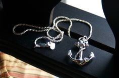 Anchor Pendant on 16 Inch Sailor Rope Chain. $79.00, via Etsy.