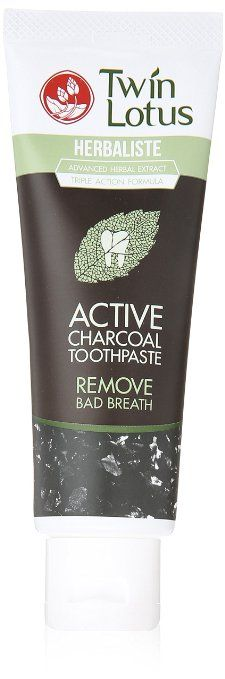 Twin Lotus Active Charcoal Toothpaste Herbaliste Triple Action 100g (3.52 Oz) X 1 Tube Diy Charcoal Toothpaste, Best Toothpaste, Best Charcoal, Beauty Review, Natural Beauty, Coffee Cans, Beauty Hacks, Beauty Ideas, Lotus