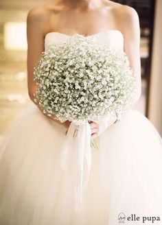 Bouquet: When it comes to baby's breath, more is more! This bloom is relatively inexpensive, so feel free to go big.