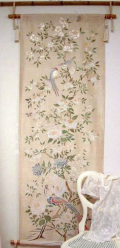 Chinoiserie Stencil | Chinoiserie | More here: http://mylusciouslife.com/photo-galleries/a-colourful-life-colours-patterns-and-textiles/