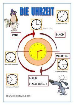 Wie spät ist es ? - DaF Arbeitsblätter