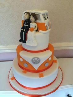 VW camper van wedding cake by Corr's Cakes