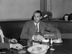 Gary Cooper having lunch at The members of Hollywood Film Colony