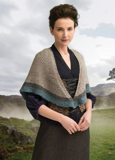 Outlander the Series Kit: Transported to 1743 Shawl (Knit). Each kit includes all the yarn you need for the project, as well as a copy of the pattern.