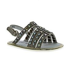 image of Stuart Weitzman Baby Kempa Sling Back Open-Toe Sandal in Gold Open Toe Sandals, Gladiator Sandals, New Beds, Buy Buy Baby, Crib Shoes, Baby Boutique, Baby Boy Outfits, Stuart Weitzman, Baby Shower Gifts