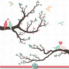 Wedding clip art WEDDING TREE clip art packLove by YenzArtHaut, $5.00