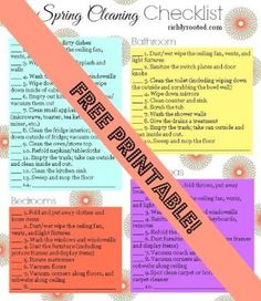 Spring Cleaning Checklist Printable - RichlyRooted.com