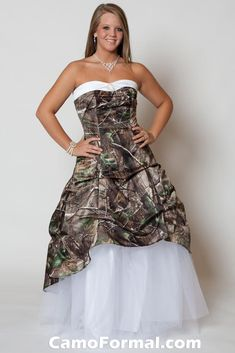 The prom dress a student of mine ordered.  So cool...camouflage prom dress!