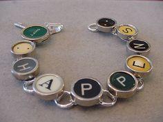 Typewriter Key Jewelry Bracelet  SHIFT HAPPENS  by magiccloset, $45.00