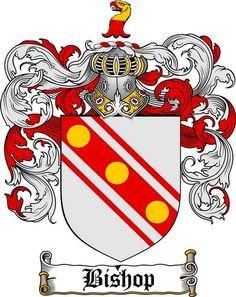 Bishop family crest / coat of arms from www.4crests.com #coatofarms #familycrest…
