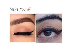 grafika funny, makeup, and eyeliner Eyeliner For Hooded Eyes, Winged Eyeliner, Glitter Eyeliner, Makeup Is Life, Makeup Goals, Me Vs You, Snapchat, Funny Quotes For Instagram, Feminine Fashion