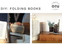 Folded book decor