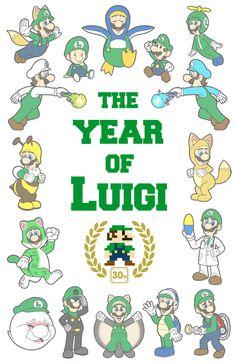 The Year Of Luigi by Red-Flare.deviantart.com on @deviantART