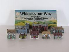 Wade of England Whimsey-on-Why porcelain miniature English village English Village, Putz Houses, Miniature Houses, Cottages, Home Crafts, Porcelain, Miniatures, England, David