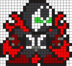 Spawn Perler Bead Pattern