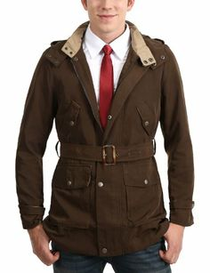 Doublju Mens Hooded Trench Coat - http://www.perfect-gift-store.com/best-trench-coats-for-men.html