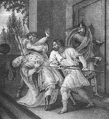 Vladimir seized Kiev with the assistance from a boyar Blud, who had become Yaropolk's chief adviser upon the death of Sveneld. Blud betrayed Yaropolk by advising him to flee from Kiev and go into retreat in the town of Rodnya at the mouth of the Ros' River. Vladimir besieged Rodnya and starved Yaropolk into negotiations. Yaropolk trusted Blud and his brother's promises of peace and left for Vladimir's headquarters, where he would be killed in an ambush by two Varangians.