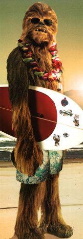 Star Wars-Chewie Surf Photographie sur AllPosters.fr