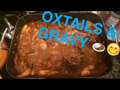 Soul Food - How to Cook Oxtails - Recipe Oxtail Recipes, Jamaican Recipes, Beef Recipes, Cooking Recipes, Jamaican Cuisine, Cooking Videos, Oxtails And Gravy Recipe, Cooking Oxtails, Beef Oxtail