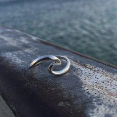 Wave Ring Surfer ring Beach Jewelry Silver wave ring by Sharvit