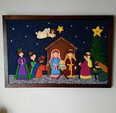 Christmas Nativity Scene, Felt Christmas Ornaments, Christmas Wood, Christmas Colors, Christmas Projects, Christmas Classroom Door, Christmas To Do List, Nativity Crafts, Christmas Sewing